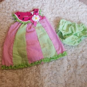 Emily Rose Watermelon Dress with Bloomers